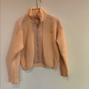 Urban outfitters peach chenille jacket